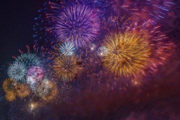 картинка салют на Новый год