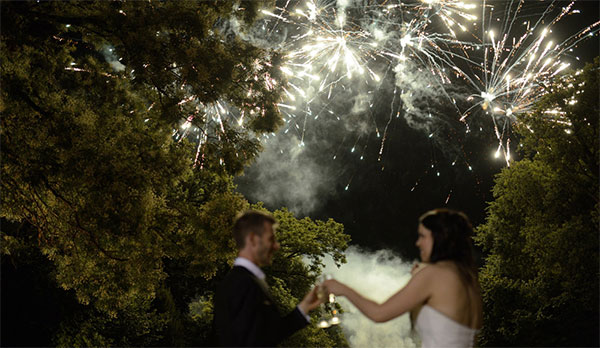Комбинированный свадебный фейерверк
